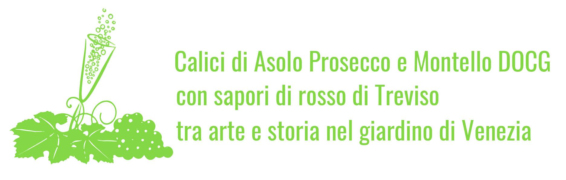 Calici di Asolo Prosecco e Montello DOCG con sapori di rosso di Treviso